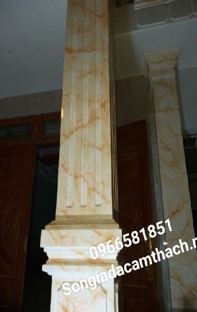 Mẫu sơn giả đá cột vuông