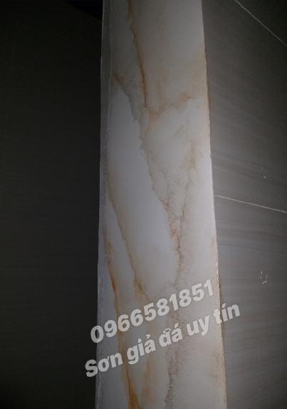 Hình ảnh sơn giả đá, mẫu sơn giả đá cẩm thạch, cột tròn giả đá