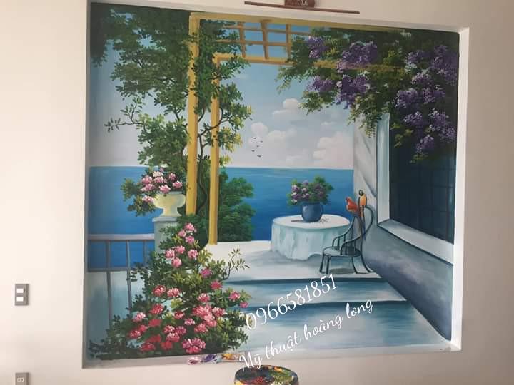 Vẽ tranh tường tại bình phước