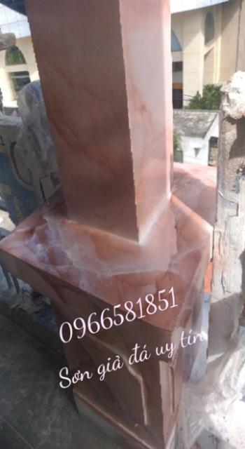 Mẫu cột sơn giả đá