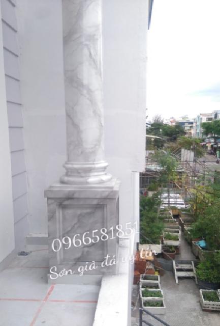 Mẫu cột sơn giả đá cẩm thạch