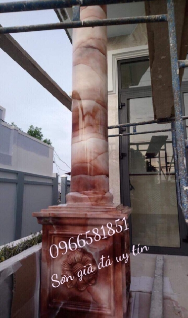 Mãu cột sơn giả đá cảm thạch