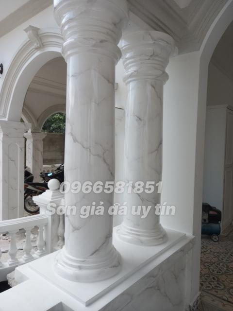Sơn giả đá cẩm thạch tại Long Khánh