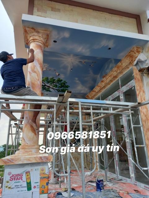 Thi công sơn giả đá tại Long Thành Đồng Nai