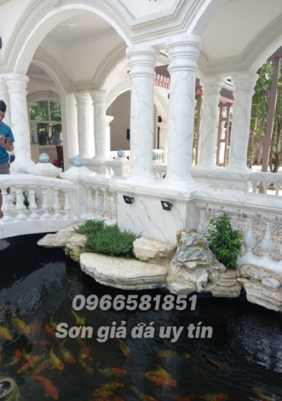 Sơn giả đá cẩm thạch tại Bình Chánh