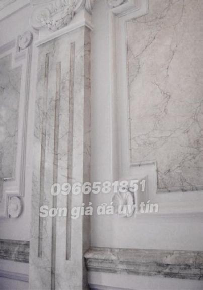 Mẫu sơn giả đá tường nhà