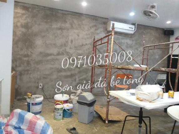 Thi công sơn giả đá bê tông