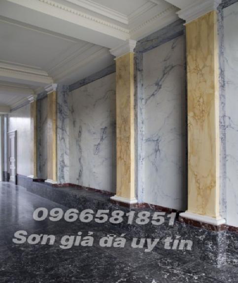 Mẫu sơn giả đá ốp tường