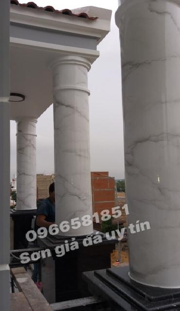 Sơn cột cẩm thạch tại Long Thành Đồng Nai