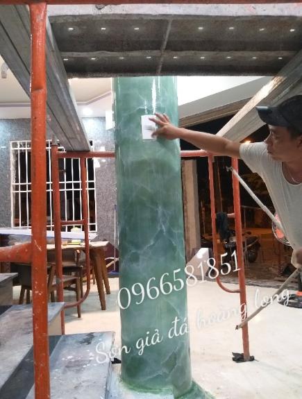 Thi công sơn giả đá cẩm thạch tại bình dương