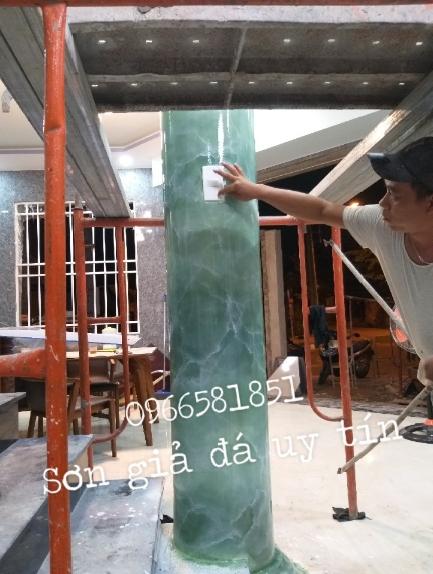Thi công sơn giả đá tại Định Quán