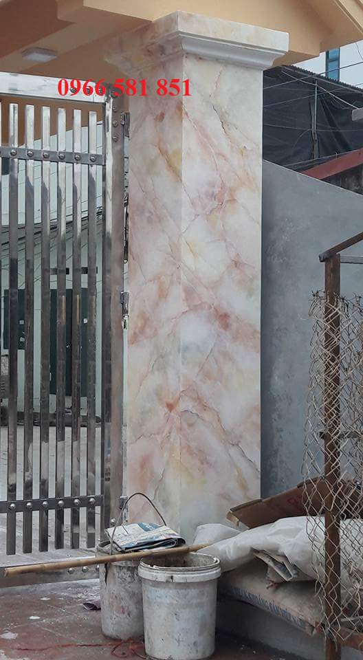 mẫu cột sơn gỉa đá cẩm thạch đẹp