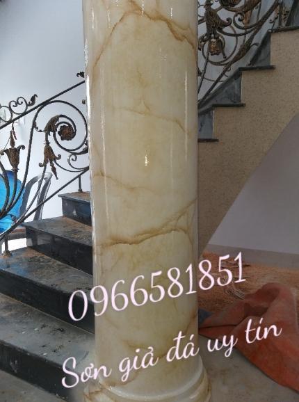 Sơn giả đá cẩm thạch ở hà nội