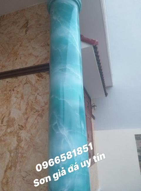 Sơn giả đá màu xanh cẩm thạch
